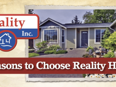 5 reasons to choose Reality Homes to build your custom home.