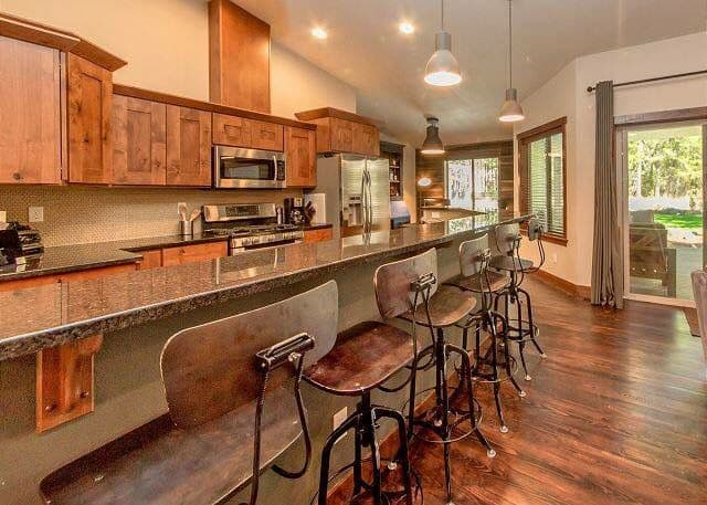 Customize your kitchen like this gorgeous kitchen with counter stools, to get the best home resale value.